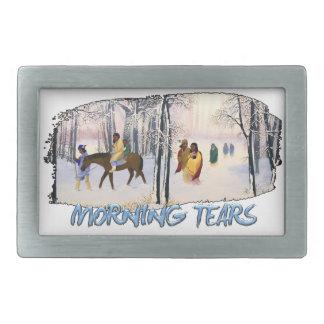 Morning Tears Rectangular Belt Buckle