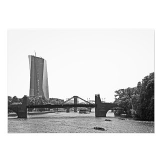 Morning view of the River Main in Frankfurt Photo Print