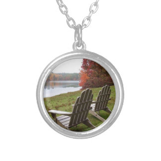 Morning Walk in Autumn Silver Plated Necklace