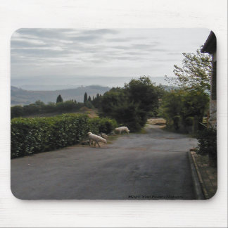 Morning Walk In San Gimignano Mousepad