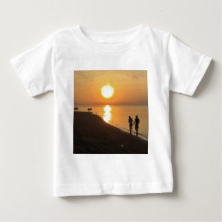 Morning walk on the beach baby T-Shirt