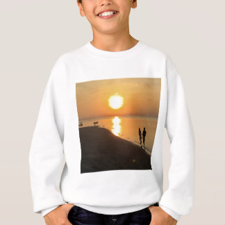 Morning walk on the beach sweatshirt