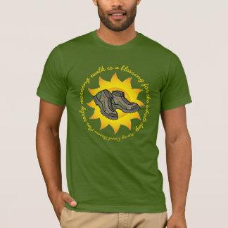 Morning Walk Thoreau Quote Hiking Boots Wellness T-Shirt