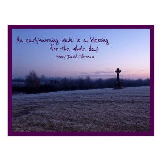 Morning Walk (Tullamore Celtic Cross) Postcard