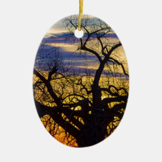 Morning Woods Ceramic Ornament
