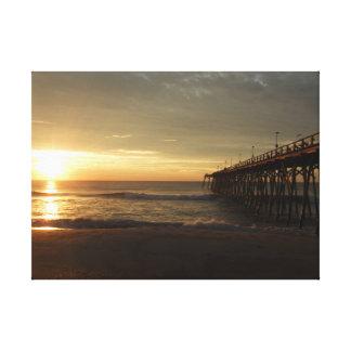 Mornings at the seashore canvas print