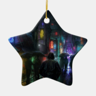 Mornings For People Of The Night Ceramic Ornament