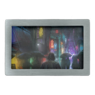 Mornings For People Of The Night Rectangular Belt Buckle