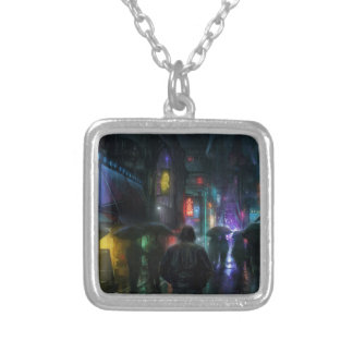Mornings For People Of The Night Silver Plated Necklace