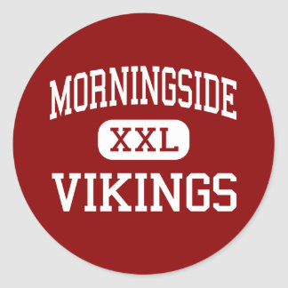 Morningside - Vikings - Middle - Fort Worth Texas Round Sticker