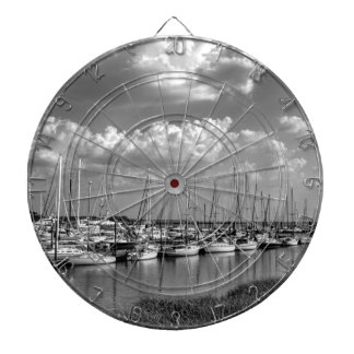 Morningstar Marina and Grasslands Black and White Dartboard With Darts