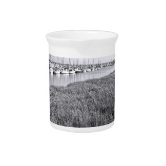 Morningstar Marina and Grasslands Black and White Drink Pitcher