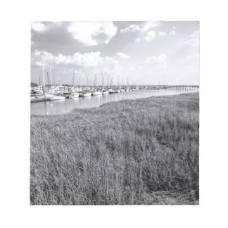 Morningstar Marina and Grasslands Black and White Notepads