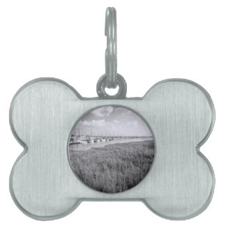 Morningstar Marina and Grasslands Black and White Pet ID Tag