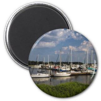 Morningstar Marina Sailboats Georgia USA 2 Inch Round Magnet