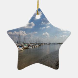 Morningstar Marina Sailboats Georgia USA Ceramic Star Ornament