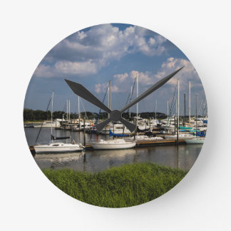 Morningstar Marina Sailboats Georgia USA Wall Clocks