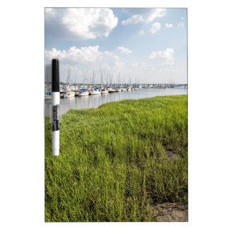 Morningstar Sailboat Marina Georgia USA Grasslands Dry Erase Board
