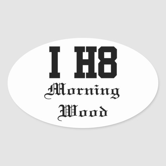 morningwood oval sticker