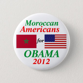 Moroccan Americans for Obama 2 Inch Round Button
