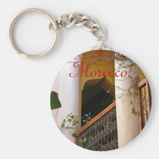 moroccan architecture basic round button keychain