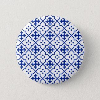 Moroccan Blue 2 Inch Round Button