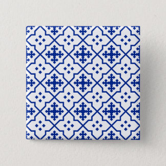 Moroccan Blue 2 Inch Square Button