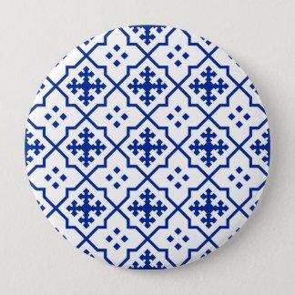Moroccan Blue 4 Inch Round Button