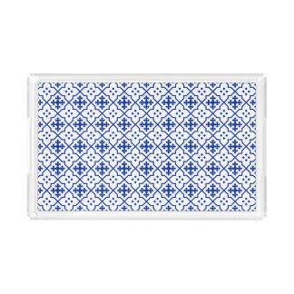 Moroccan Blue Acrylic Tray