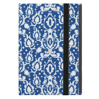 Moroccan Blue and White Casbah Damask iPad Mini Cases