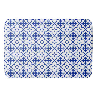 Moroccan Blue Bath Mat