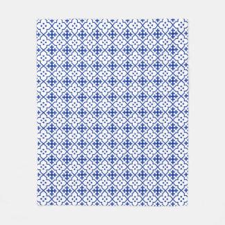 Moroccan Blue Fleece Blanket