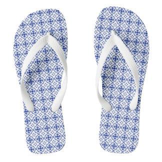 Moroccan Blue Flip Flops