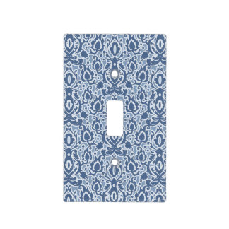 Moroccan Blue Grey Casbah Damask Light Switch Cover