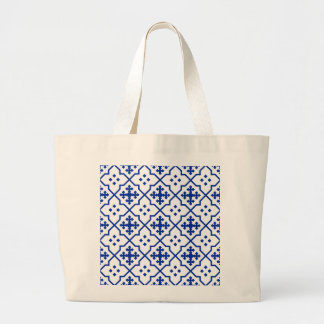 Moroccan Blue Large Tote Bag