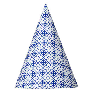 Moroccan Blue Party Hat