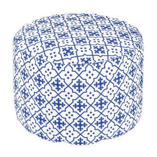 Moroccan Blue Pouf