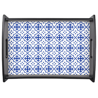Moroccan Blue Serving Tray