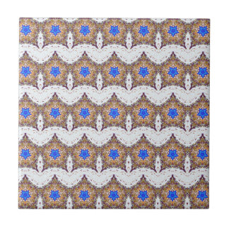 moroccan blue stars and white rows tile