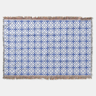 Moroccan Blue Throw Blanket