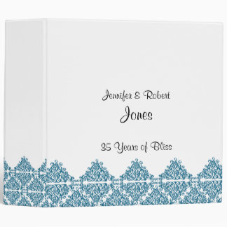 Moroccan Blue Triangle Motif Anniversary Binder