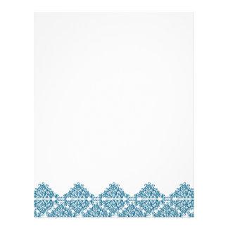 Moroccan Blue Triangle Tile Letterhead