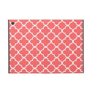Moroccan Coral White Quatrefoil Pattern iPad Mini Cases