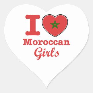 Moroccan  design heart sticker