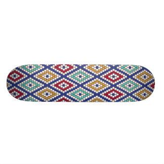 Moroccan Diamond Design Skateboard