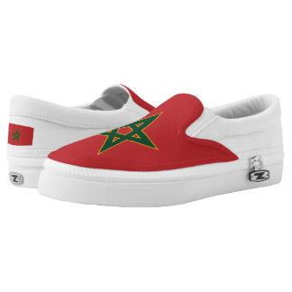 Moroccan flag Slip-On sneakers