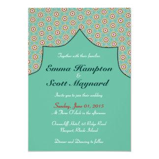Moroccan geometric decoration wedding invitation