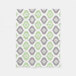 Moroccan geometric shape pattern blanket