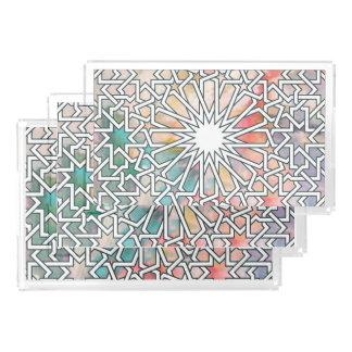 Moroccan Geometric Star Tray