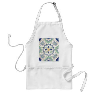 Moroccan Green and Blue Print Aprons